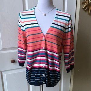 3/4 Sleeves V-Neck Cardigan Sweater
